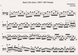 Bach Cello Suite 1 BWV 1007 Prelude Fred Annotated Icon