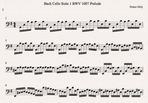 Bach Cello Suite 1 BWV 1007 Prelude Notes Only Icon
