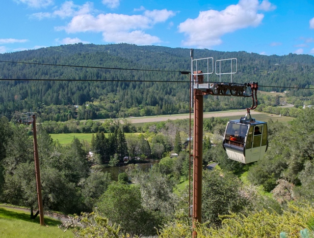 Gondola Lift - Sterling Vineyards Napa Valley