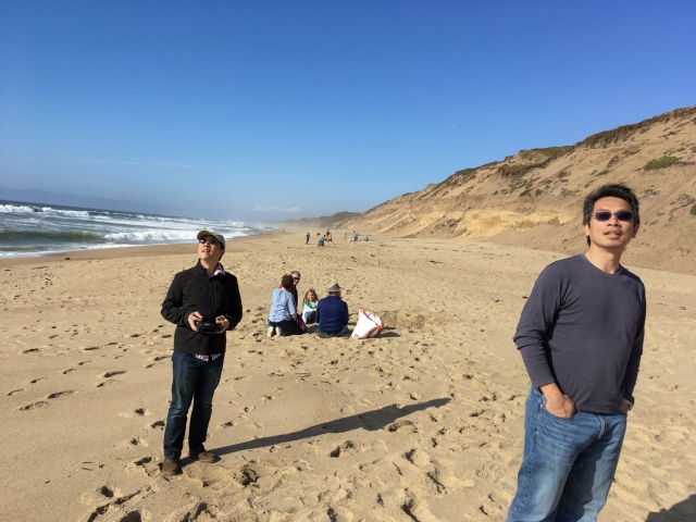 Flying UMX Radian at the beach, Fort Ord Dunes State Park, Monterey Bay