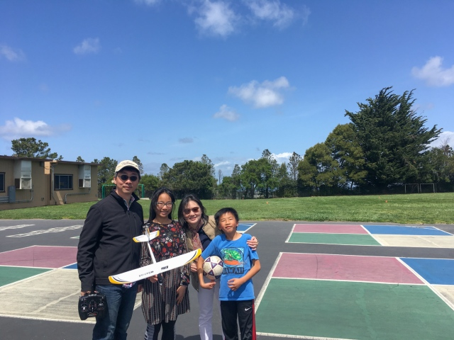 Flying the UMX Radian at Belmont