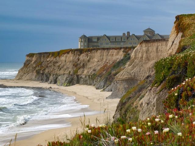 Beach and Cliff at Ritz-Carlton, Half Moon Bay