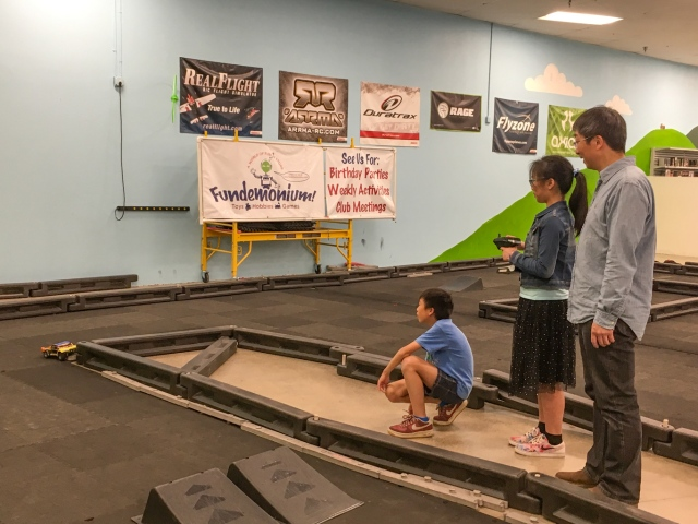 Indoor RC race track at Fundemonium, Rohnert Park, Sonoma County