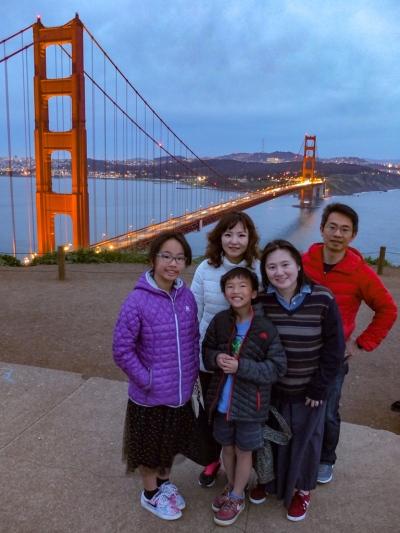 Golden Gate Bridge at nightfall
