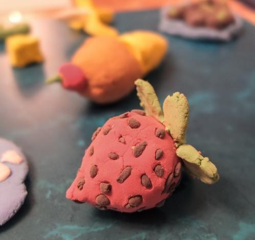 Daiso Clay Strawberry