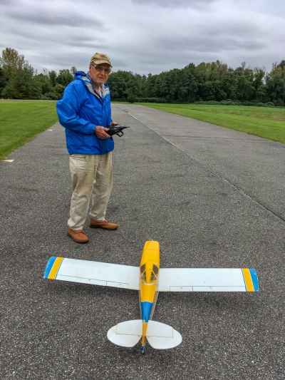 Paul making one last radio and control surface checks before taking off
