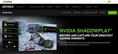 nvidia shadowplay video recording