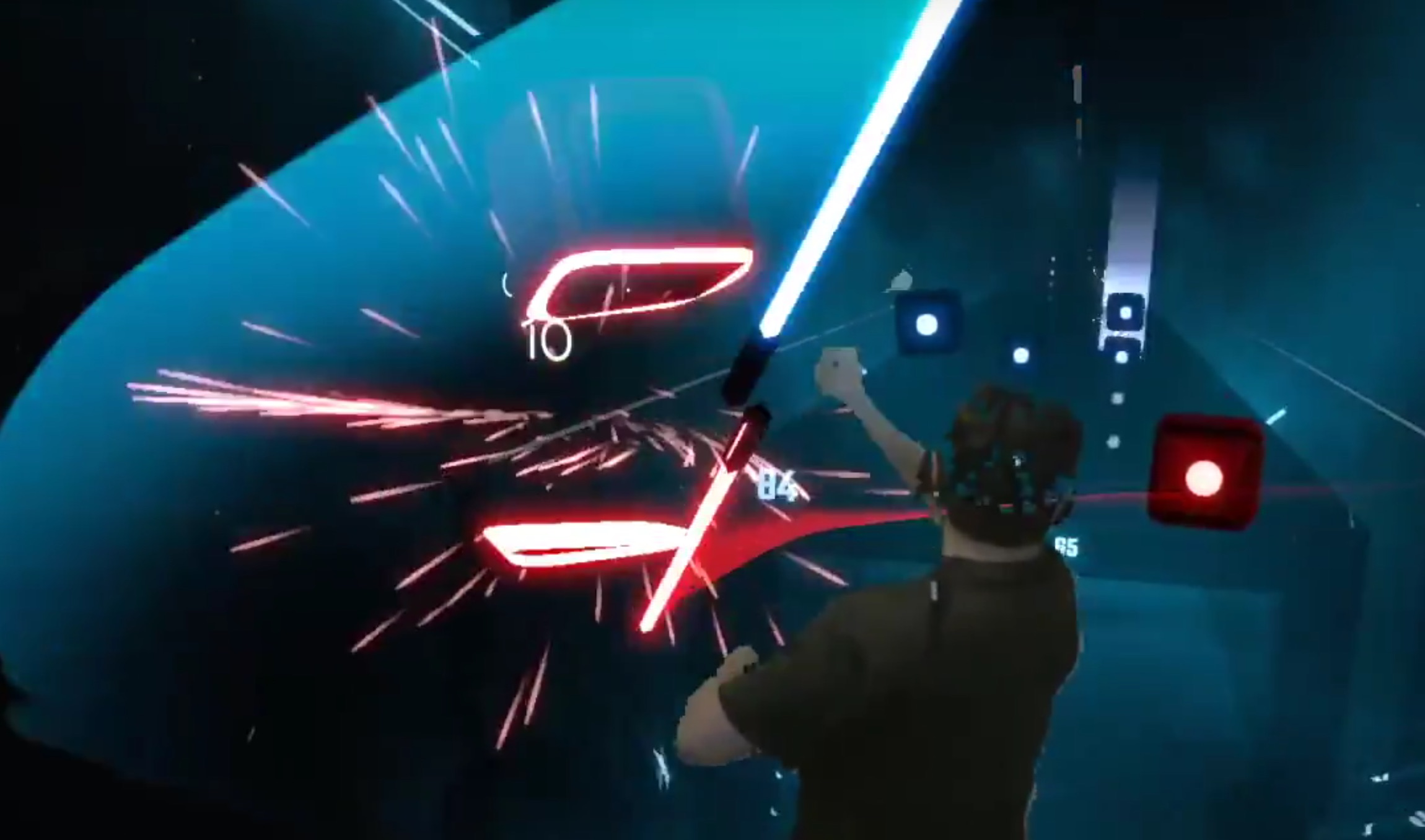 Anyone can Darth Maul Beat Saber with a double-bladed DIY