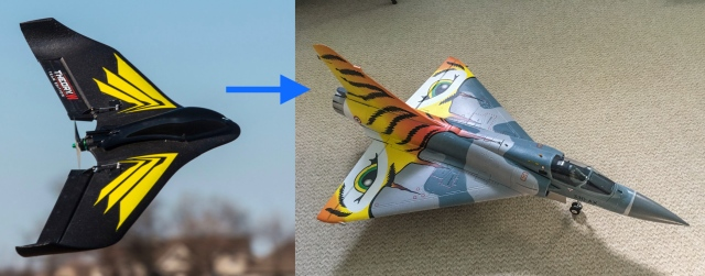 Flying a delta wing Mirage 2000 using SAFE SRM model from Horizon Hobby Theory Type W