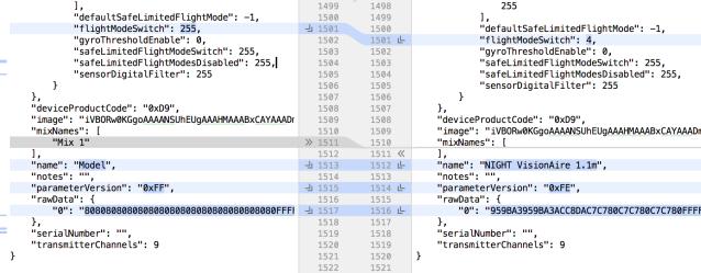 parameterVersion - 0xFF plain AS3X vs 0xFE SAFE
