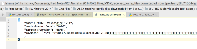 Raw SRM files downloaded from Spektrum contains very few deserialized JSON fields