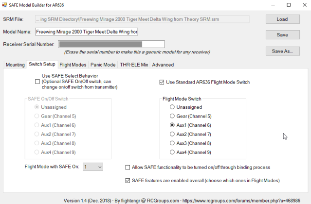 SMB can properly set the flight model switch channel selection