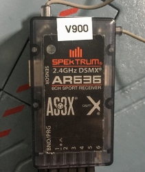 Spektrum AR636 loaded with V900 SRM by Horizon Hobby as a replacement receiver