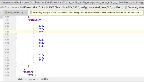 Theory Type W: legacy rateGain section of the SRM file