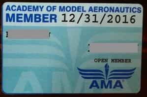 AMA membership card