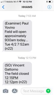 HHAMS field texting service