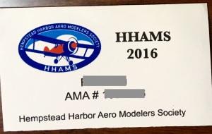 HHAMS membership card