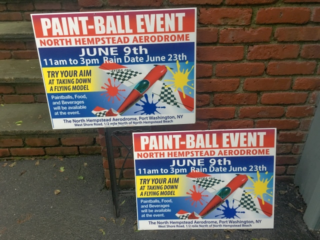 Paintball event starts with advertising