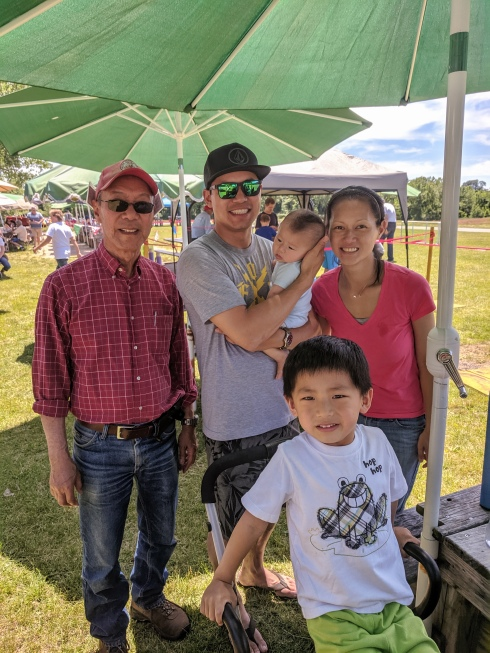 Three generations of Cheung model airplane pilots