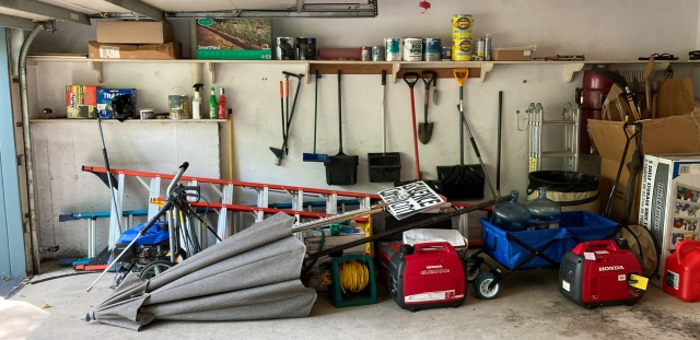 Items found on the left side of the garage