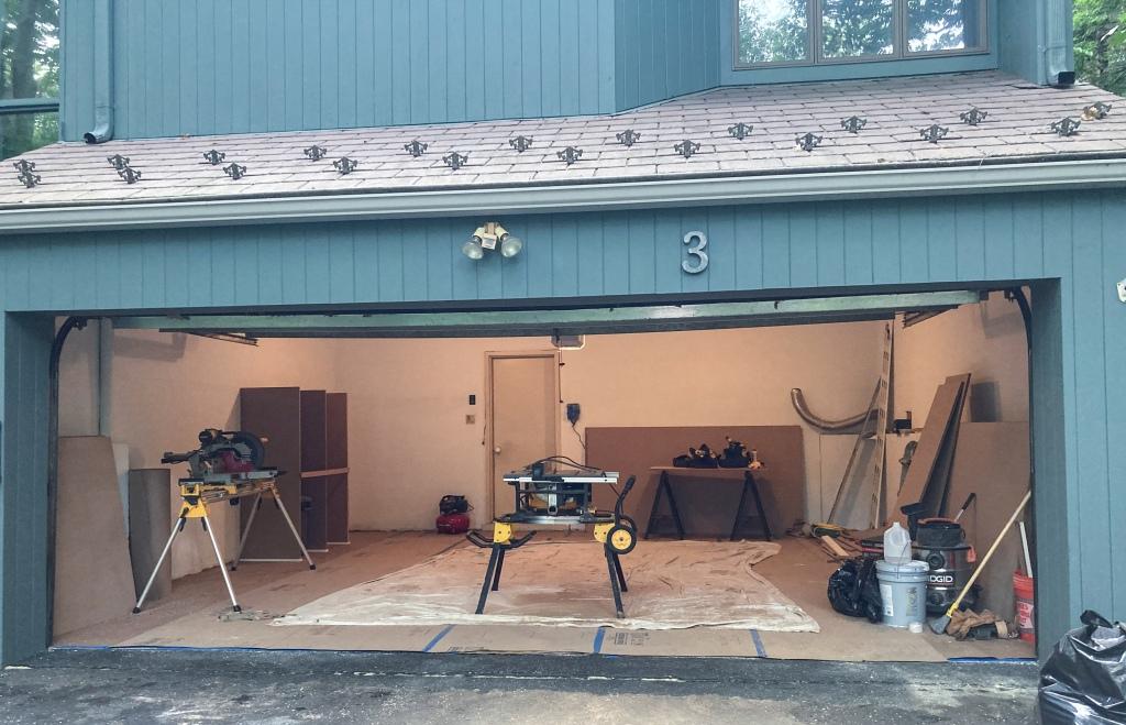 Custom cabinetry work begins