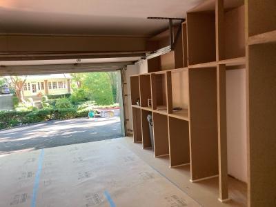 Left side cabinets taking shape