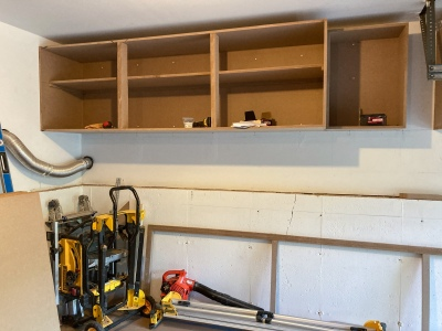 Right side cabinets taking shape