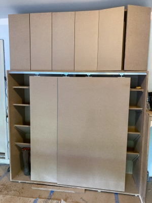 Doors for the top cabinets