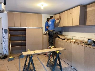 Last few hinge adjustments on cabinet doors