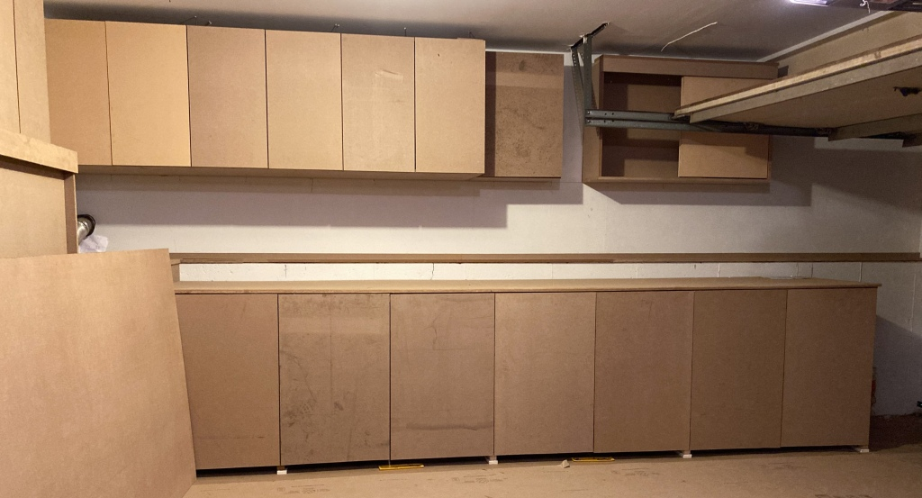 Cabinetry work is complete