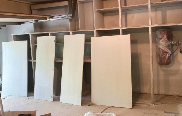 Primed cabinet doors