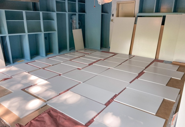 All finished cabinet doors accounted for at the end of the day