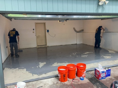 Primer epoxy coating is applied