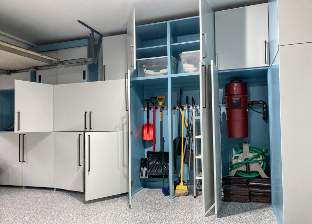 Tall cabinets for quick and easy access to commonly used tools